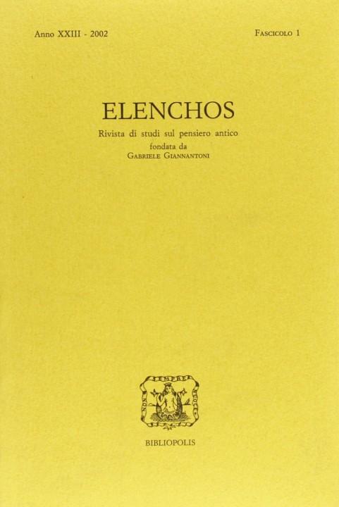 Elenchos XXIII – 2002 – Fasc. 1