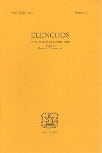 Elenchos XXIII – 2002 – Fasc. 2