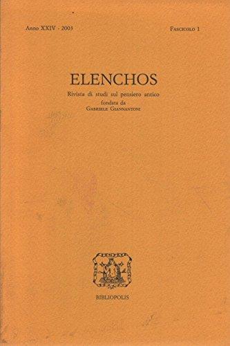 Elenchos XXIV – 2003 – Fasc. 1