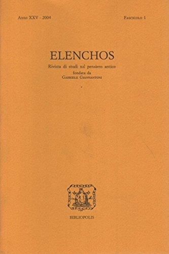 Elenchos XXV – 2004 – Fasc. 1