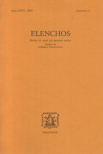 Elenchos XXVI – 2005 – Fasc. 1