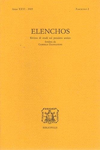 Elenchos XXVI – 2005 – Fasc. 2