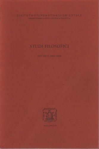 Studi Filos. XXV-XXVI