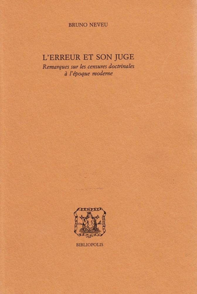 L'erreur et son juge