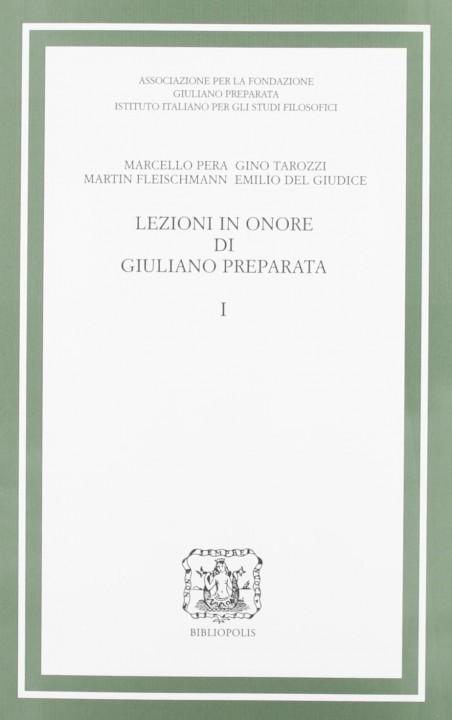 Lezioni in onore di Giuliano Preparata - 1
