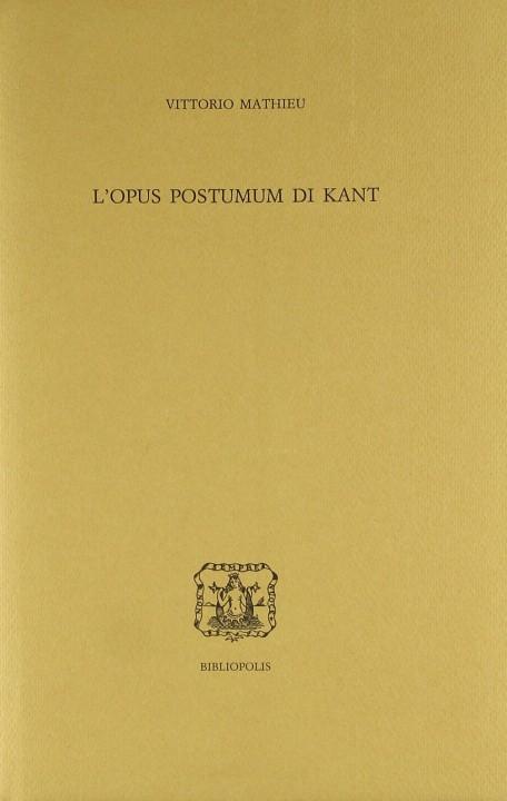 L'opus postumum di Kant