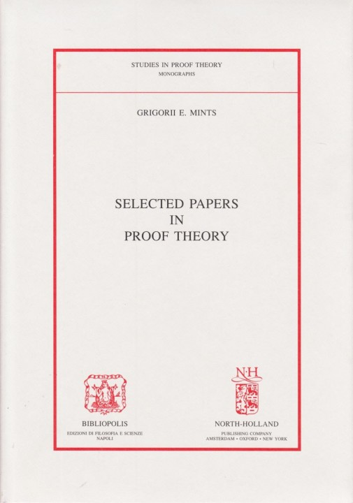 Selected papers in proof theory