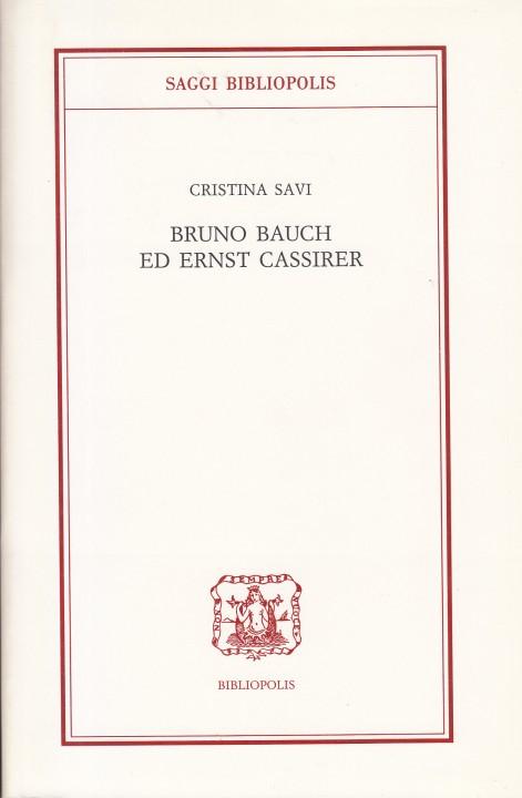 copertina Bruno Bauch ed Ernst Cassirer_NEW