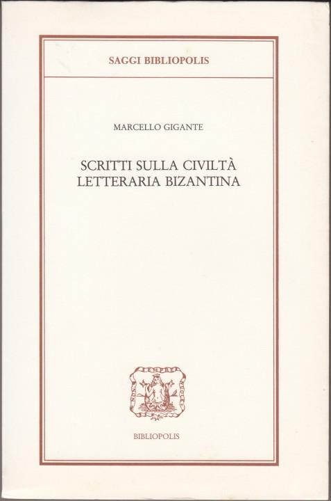 copertina scritti civiltà letteraria bizzantina