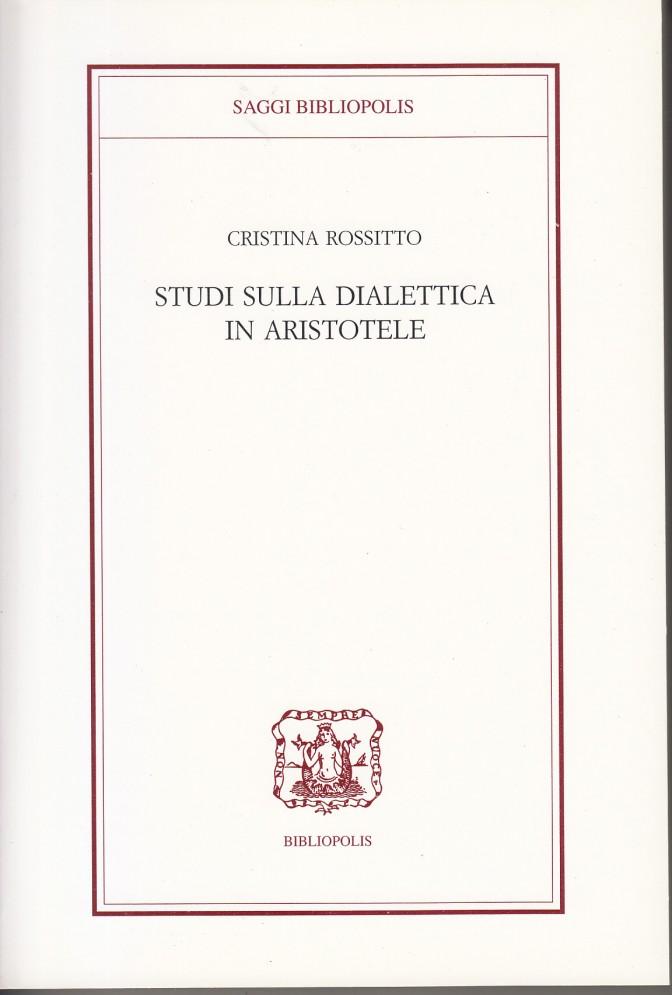 copertina studi dialettica aristotele