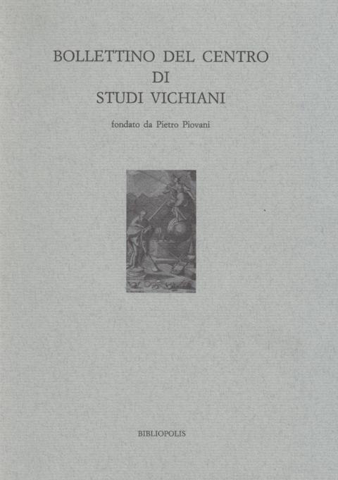 BOLLETTINO DEL CENTRO DI STUDI VICHIANI – XVI – 1986