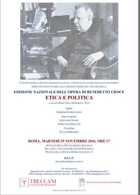"""Presentazione """"Etica e Politica"""" – Roma, 15/11/16"""