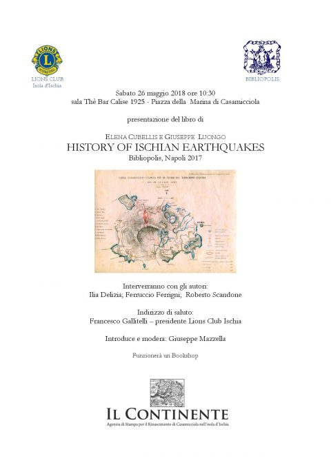 History of Ischian Earthquakes, 26/05/2018, Casamicciola