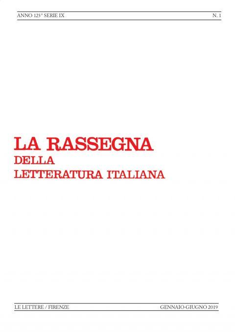 Recensione di B. Croce, La poesia (Lorenzo Abbate, «La Rassegna della Letteratura italiana», gennaio-giugno 2019)