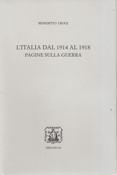 Recensione di L. Abbate a B. Croce, L'Italia dal 1914 al 1918 – Pagine sulla guerra, a cura di C. Nitsch (2018), La Rassegna della Letteratura Italiana, Luglio-Dicembre 2020