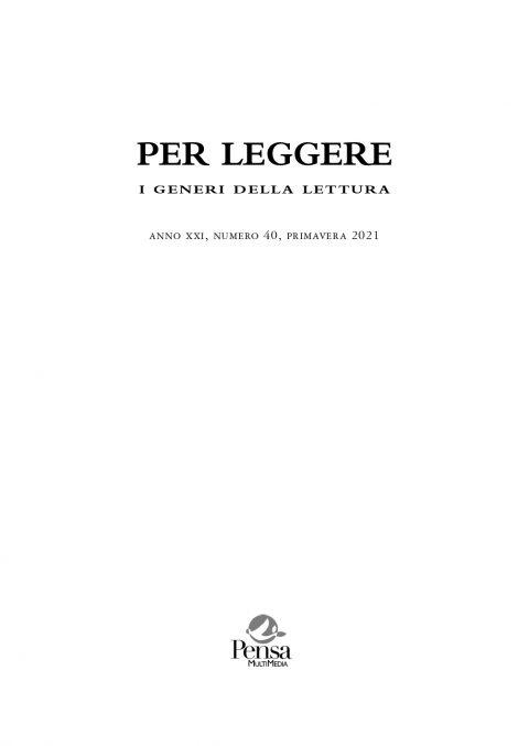 Recensione a Storie e leggende napoletane (C. Tramontana, Per leggere. I generi della lettura, XXI, 40, primavera 2021)